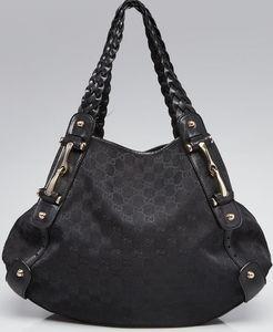 Gucci Black GG Canvas Pelham Medium Shoulder Bag